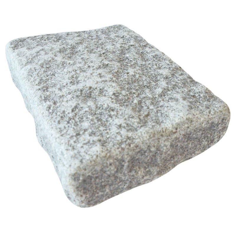 Light Grey Sawn, Riven & Tumbled Natural Granite Block Paving (140x210 Size) - Light Grey