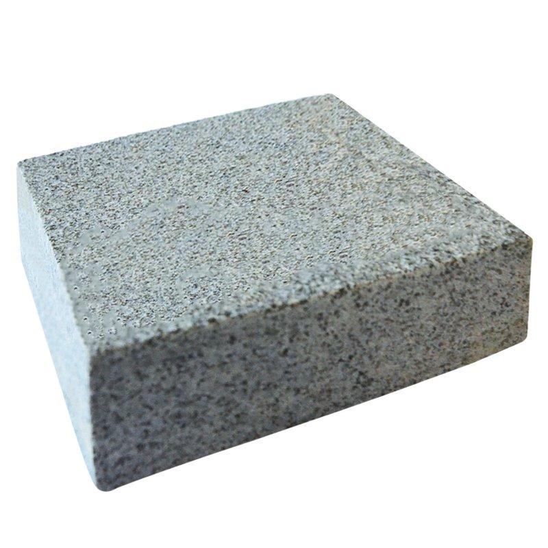 Dark Grey Sawn & Flamed Natural Granite Block Paving (150x150 Size) - Dark Grey
