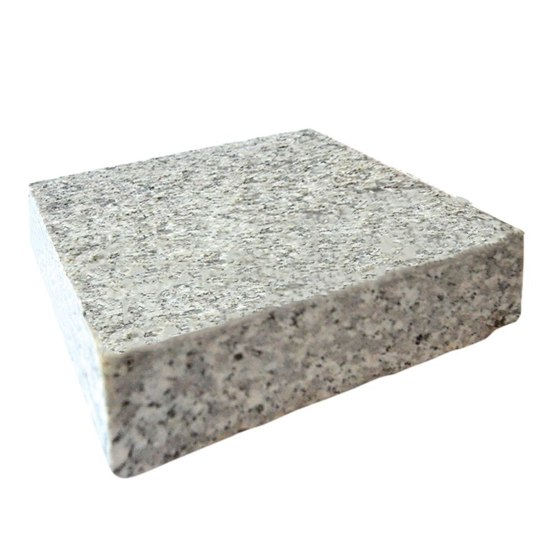 Light Grey Sawn & Flamed Natural Granite Block Paving (150x150 Size) - Light Grey