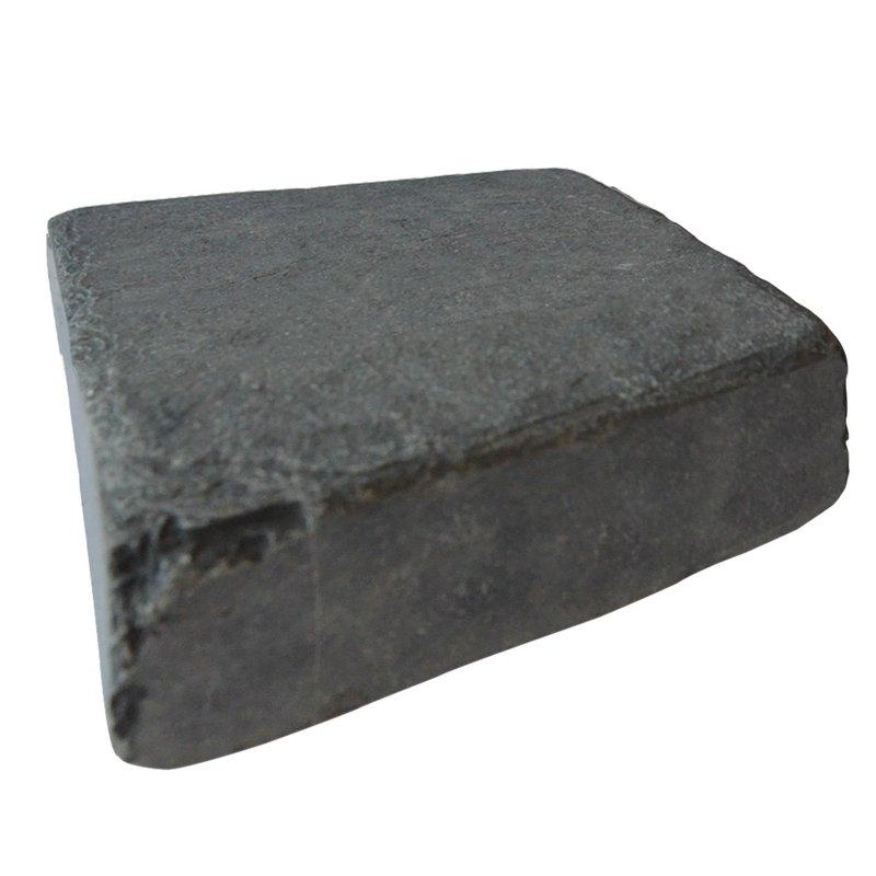 Kota Black Tumbled Natural Limestone Block Paving (150x150 Size) - Kota Black