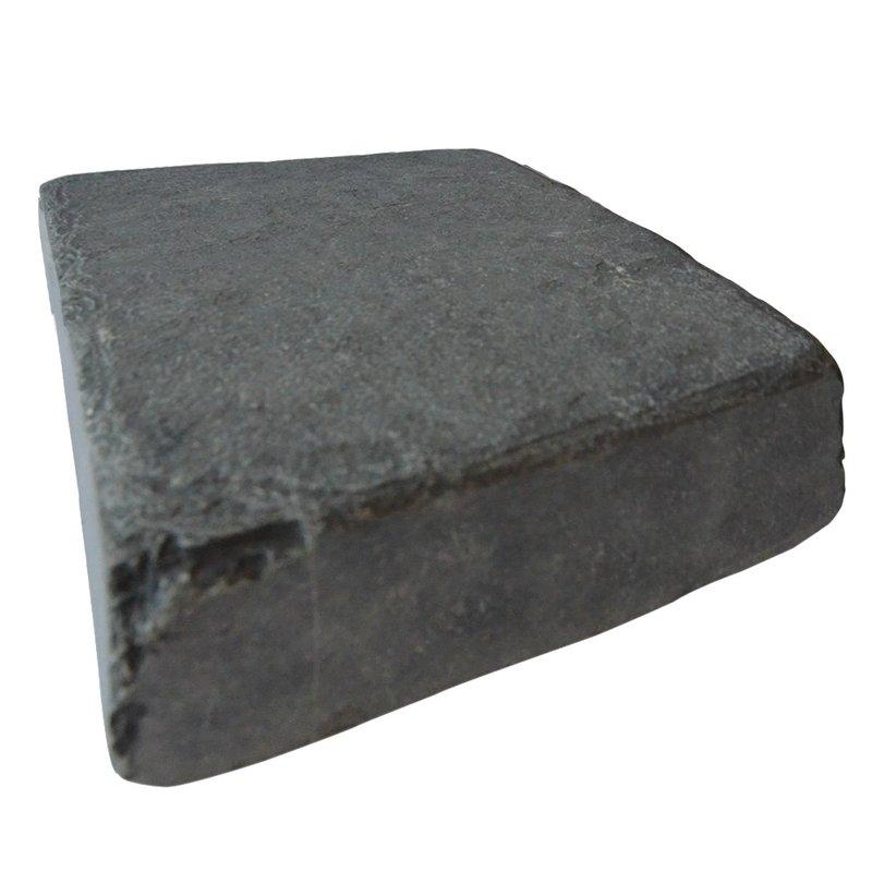 Kota Black Tumbled Natural Limestone Block Paving (150x200 Size) - Kota Black