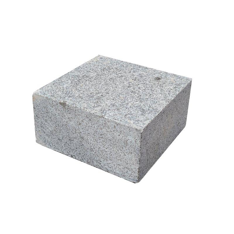 Light Grey Sawn & Flamed Natural Granite Block Paving (100x100 Size) - Light Grey