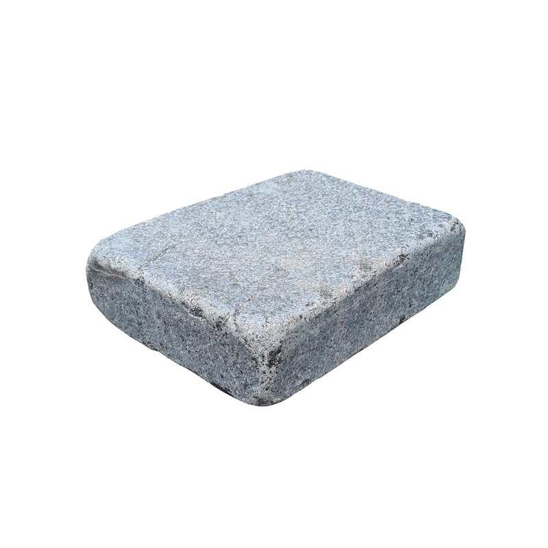 Light Grey Sawn, Honed & Tumbled Natural Granite Block Paving (105x140 Size) - Light Grey