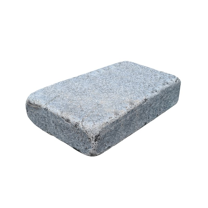 Dark Grey Sawn, Honed & Tumbled Natural Granite Block Paving (105x140 Size) - Dark Grey