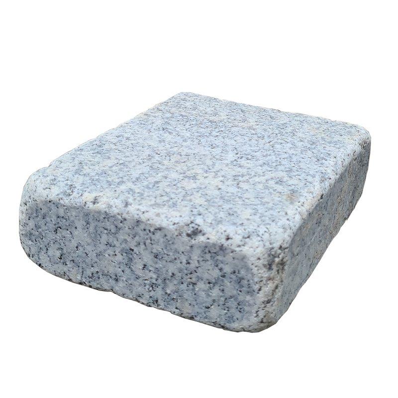 Dark Grey Sawn, Honed & Tumbled Natural Granite Block Paving (210x140 Size) - Dark Grey