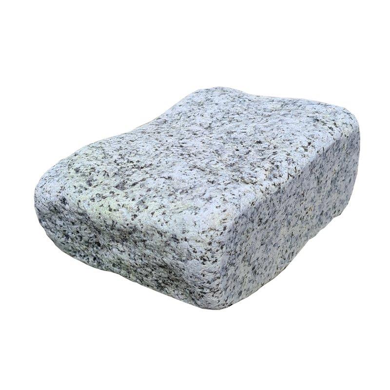 Light Grey Sawn, Riven & Tumbled Natural Granite Block Paving (105x140 Size) - Light Grey