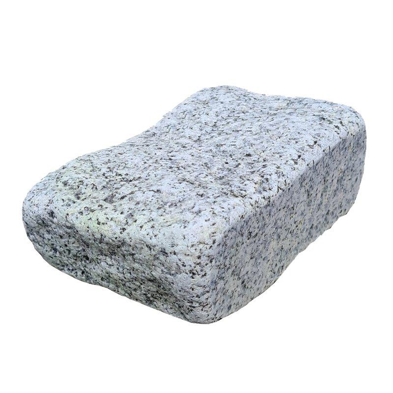 Light Grey Sawn, Riven & Tumbled Natural Granite Block Paving (210x140 Size) - Light Grey