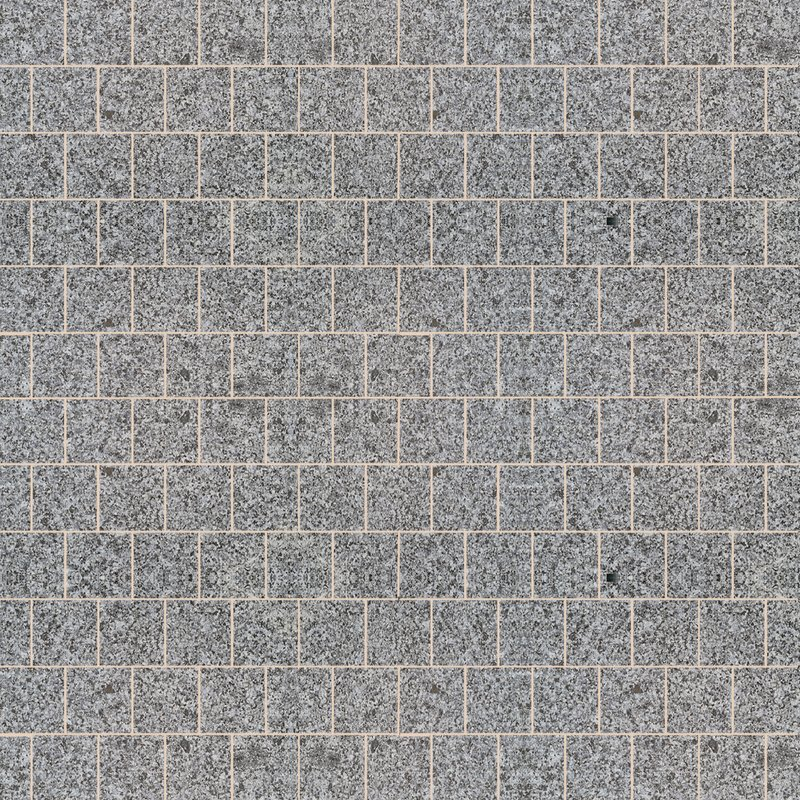 Moon Grey Sawn & Flamed Natural Granite Paving (295x295 Packs) - Light Grey