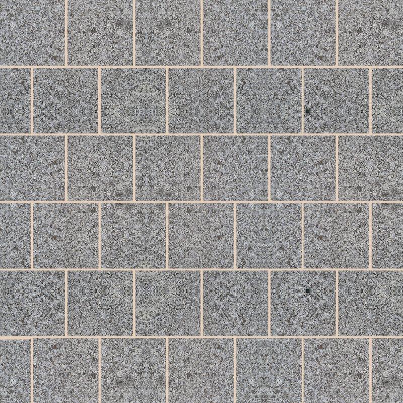 Moon Grey Sawn & Flamed Natural Granite Paving (600x600 Packs) - Light Grey