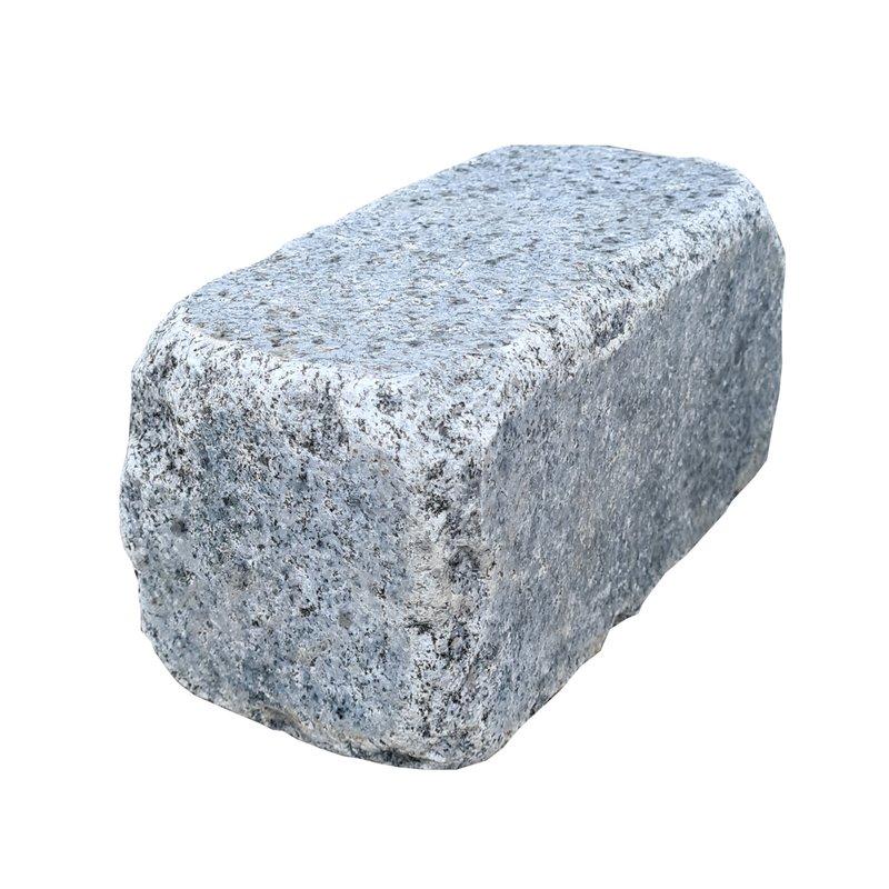 Dark Grey Sawn, Honed & Tumbled Natural Granite Walling (200x100 Packs) - Dark Grey