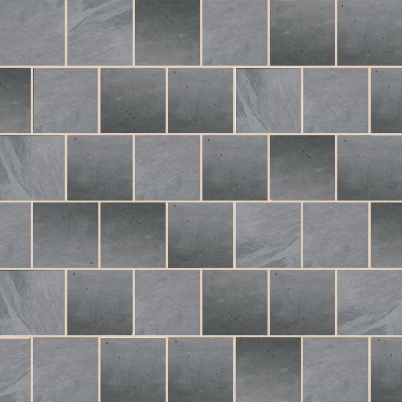 Brazilian Black Sawn Natural Slate Paving (900x900 Packs) - Brazilian Black