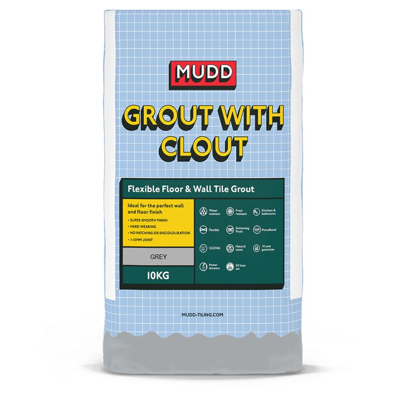 Mudd Flexible Floor and Tile Grout - 10KG - Dark Grey