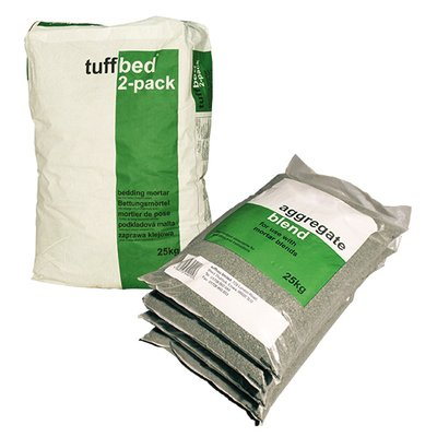 Steintec Tuffbed Bedding Mortar - 25KG Twin Pack
