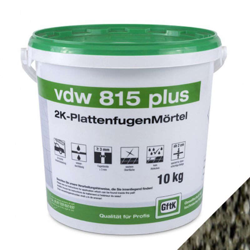 GFTK VDW 815 Plus Epoxy Paving Grout - 10KG - Basalto