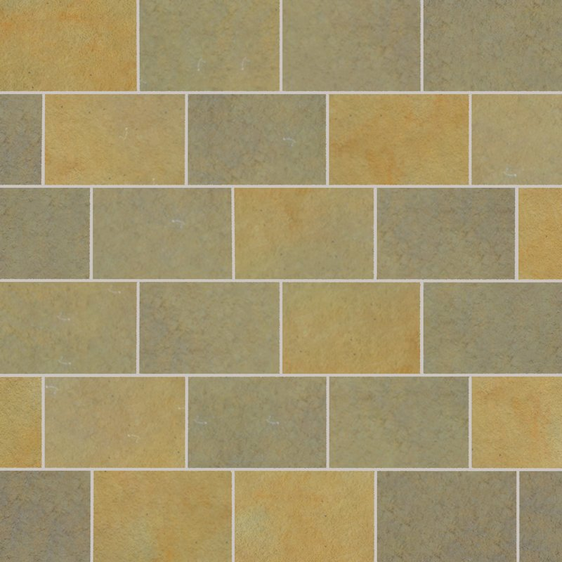 Kota Yellow Tumbled Natural Limestone Paving (840x560 Packs) - Kota Yellow