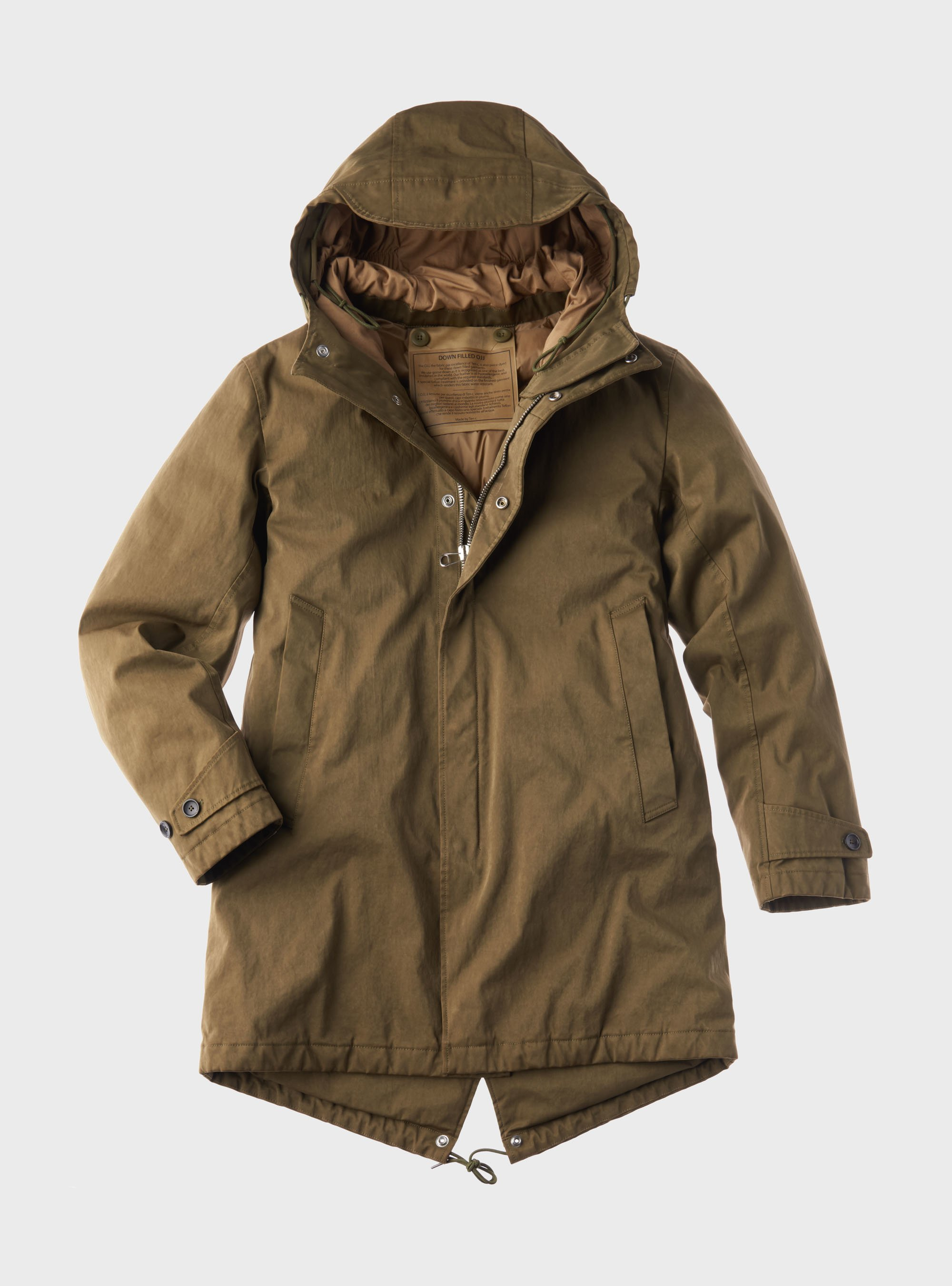 TEN C - CORE DOWN PARKA - Dark Green - TEN C