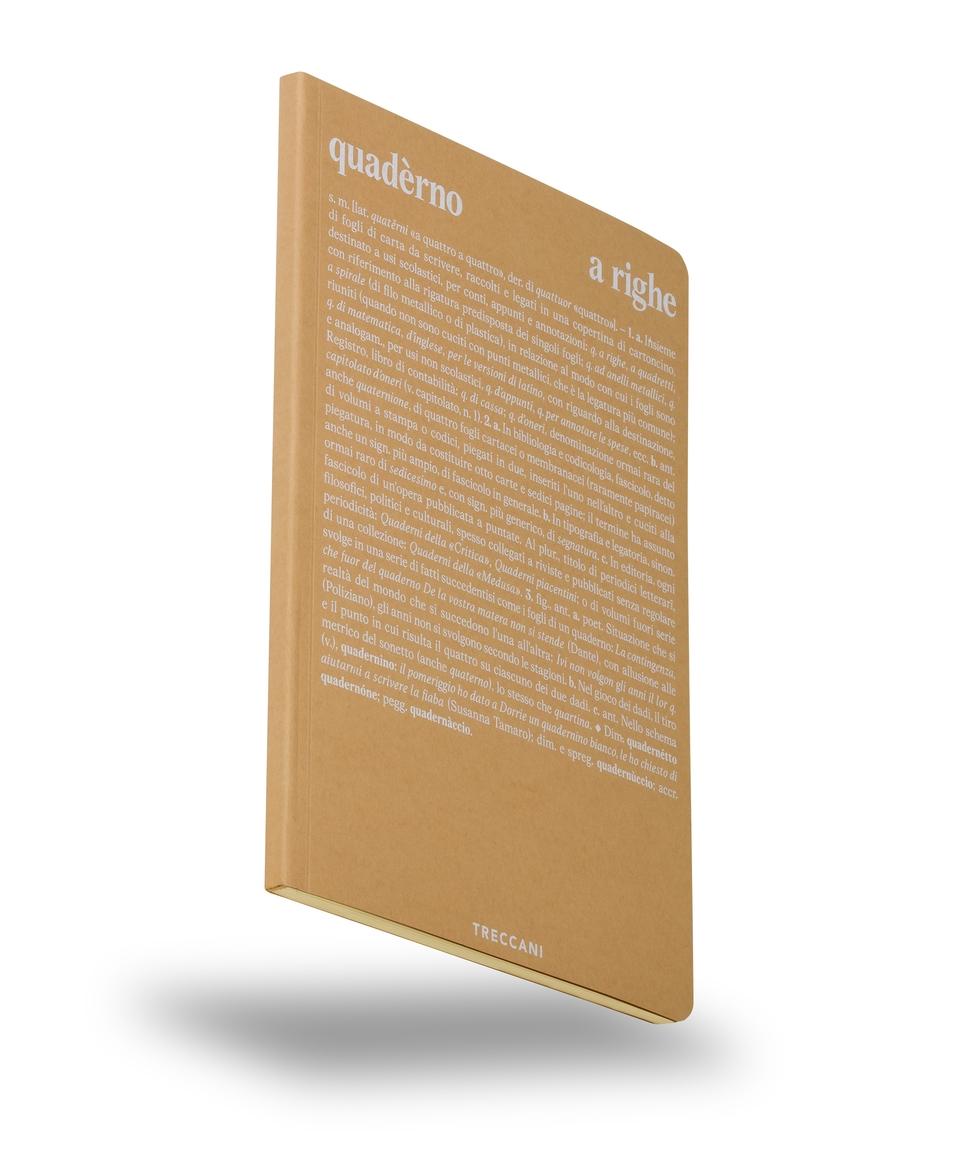 Quaderno a righe beige/bianco