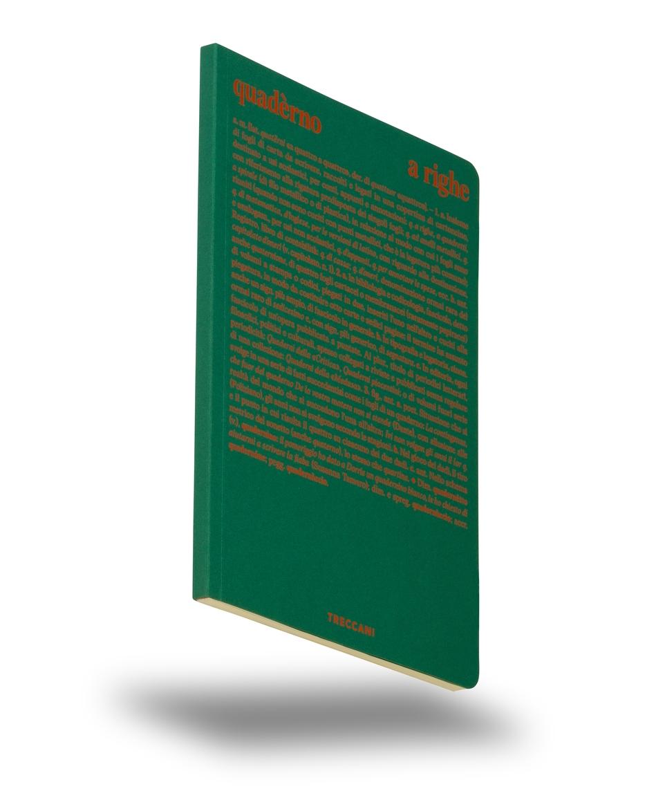 Quaderno a righe verde / arancio