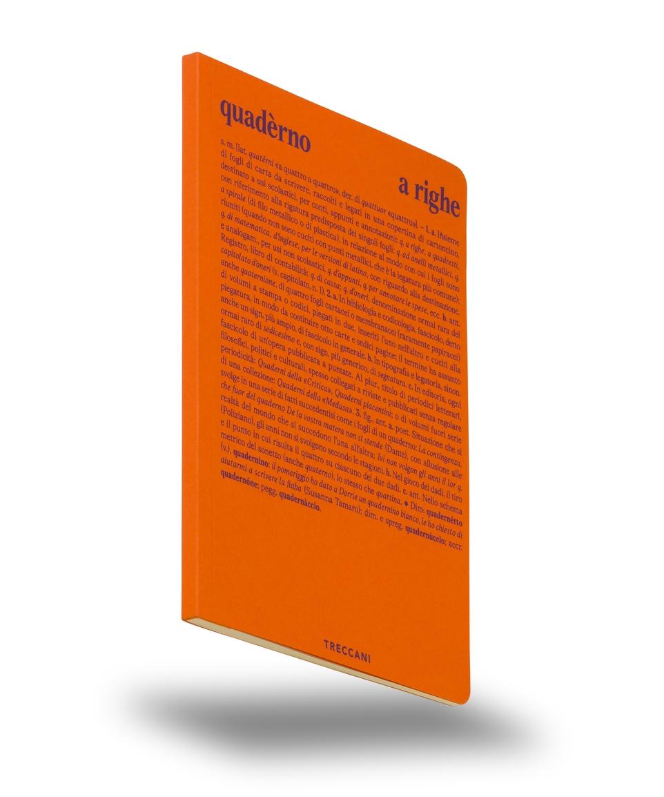 Quaderno a righe arancio/viola