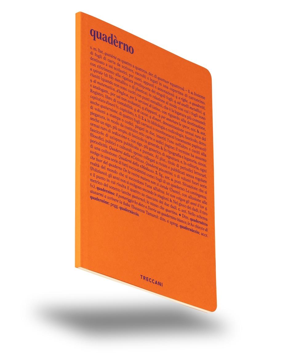 Quaderno a fogli bianchi arancio/viola