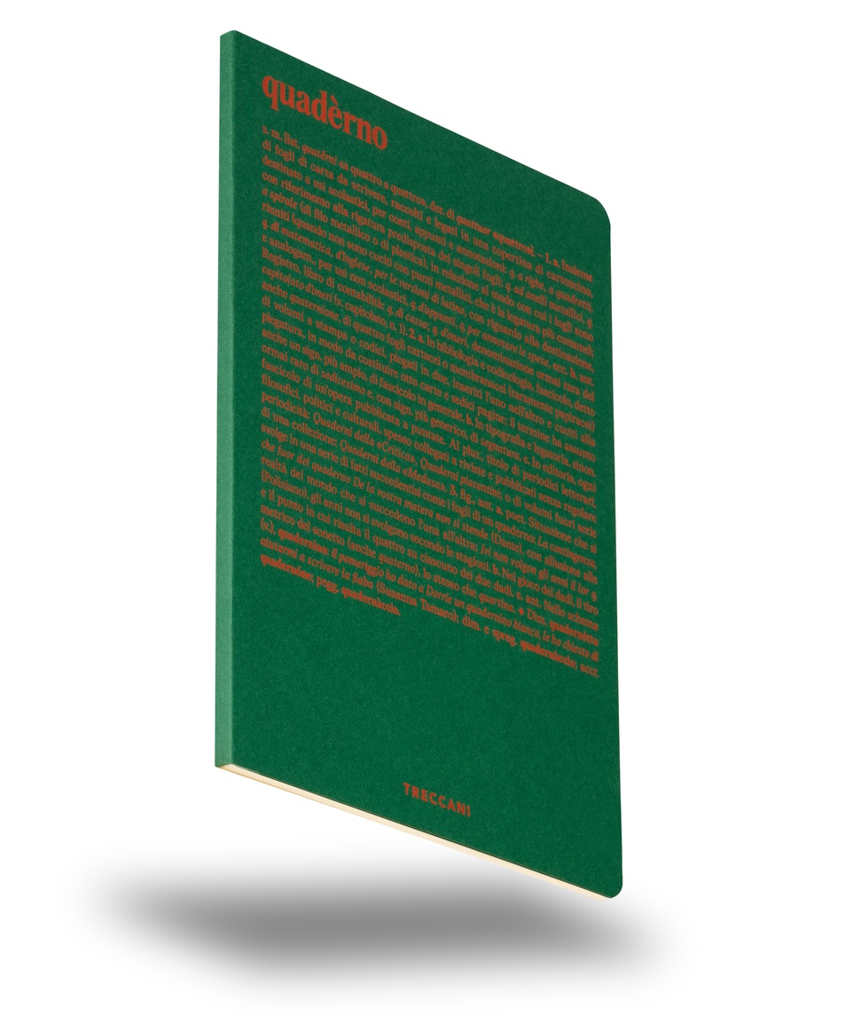 Notebook with white sheets green/orange