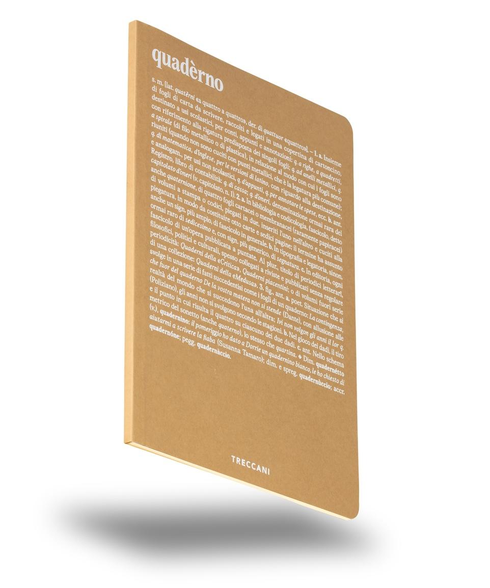 Quaderno a fogli bianchi beige/bianco