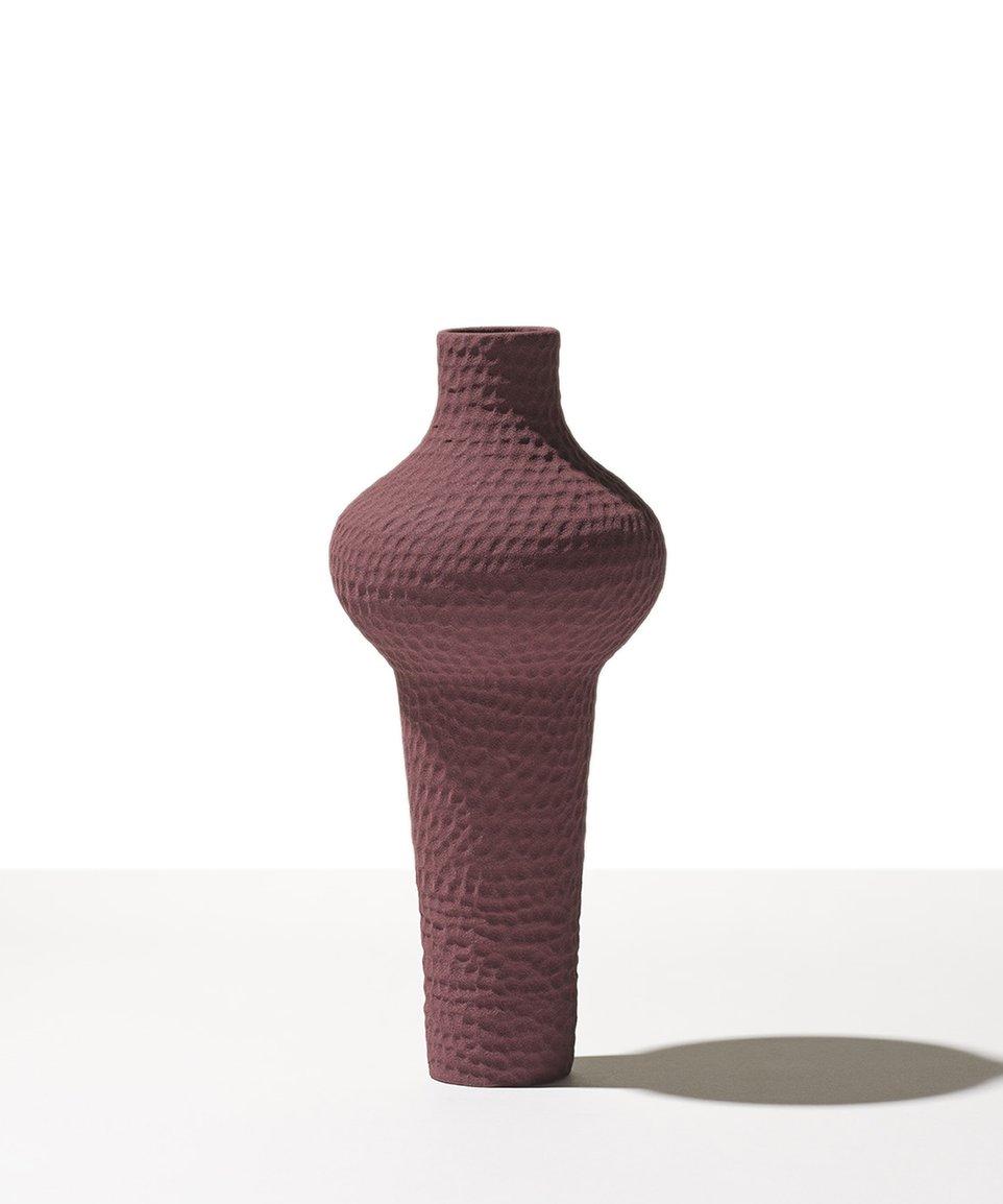 Burgundy vase