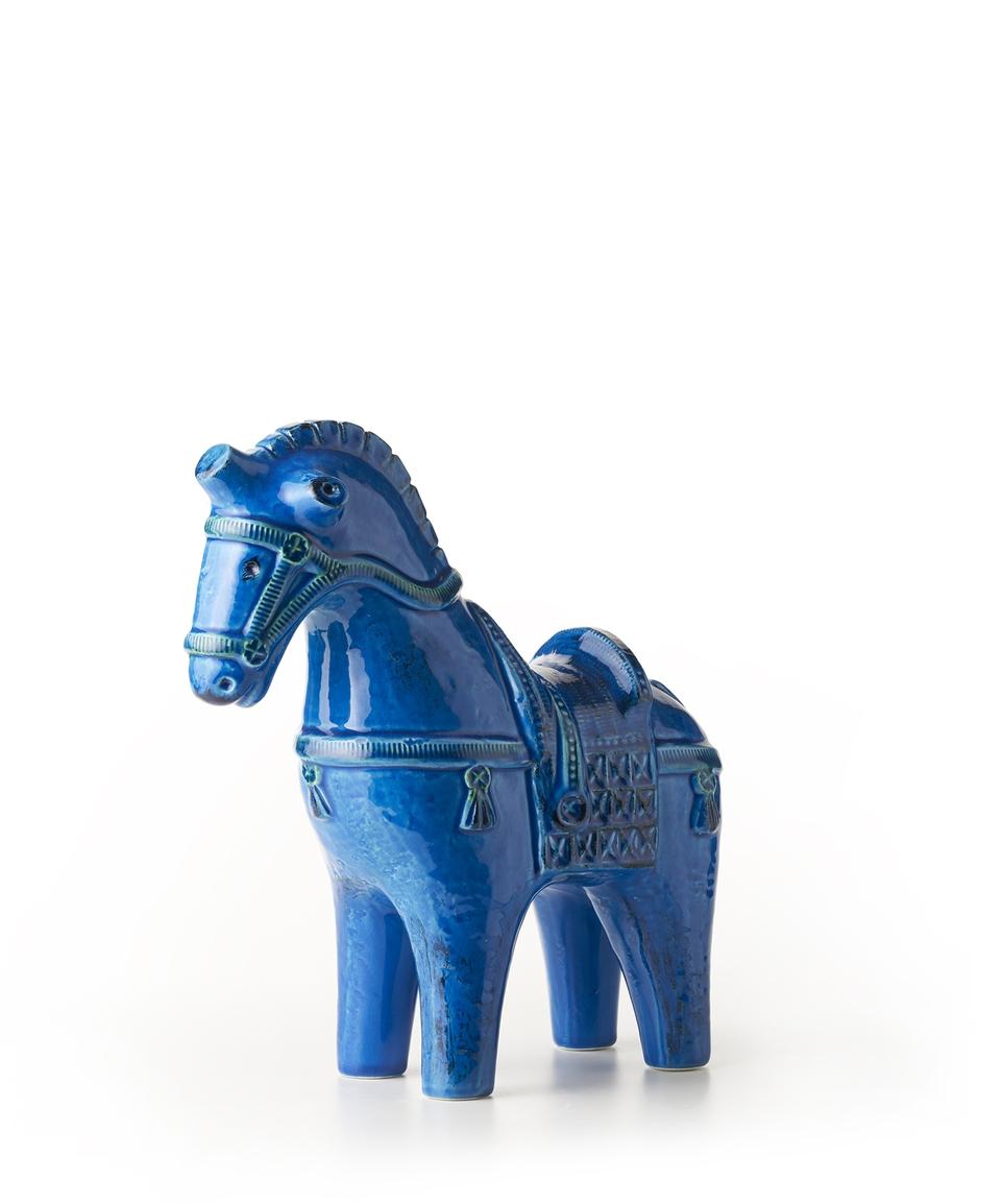 HORSE FIGURE RIMINI BLU ALDO LONDI