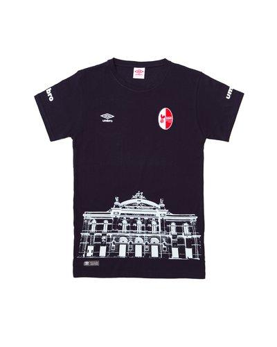 T-shirt Umbro x SSC Bari Tutti in gioco con doppia stampa - Blue