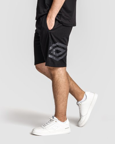 Shorts with printed logo