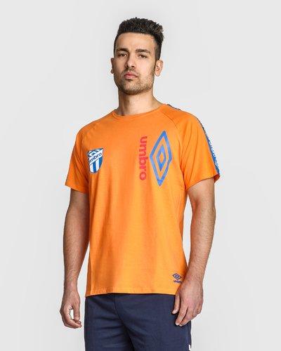 T-shirt with badge and logo print band
