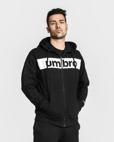 Zipped hoodie with print