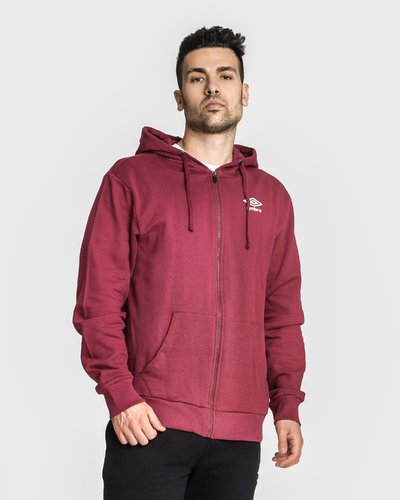 Brushed fleece hooded full zip