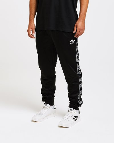 Triacetate jogger pants with logo print band