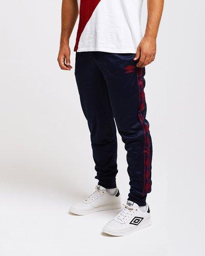 Triacetate jogger pants with logo print band