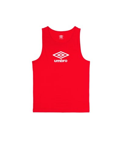 Cotton tank top with logo print