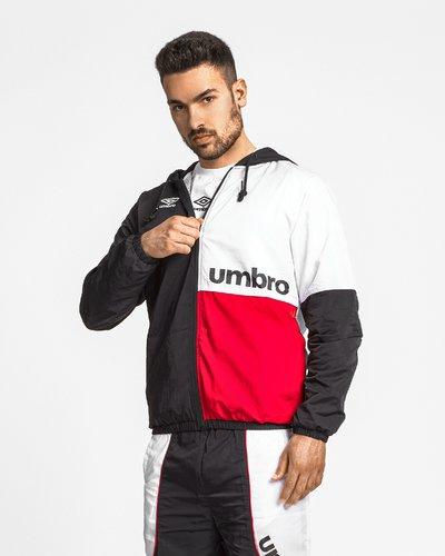 Hooded waterproof nylon jacket - Black