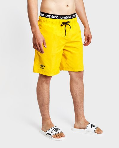 Beach short with logo print elastic band