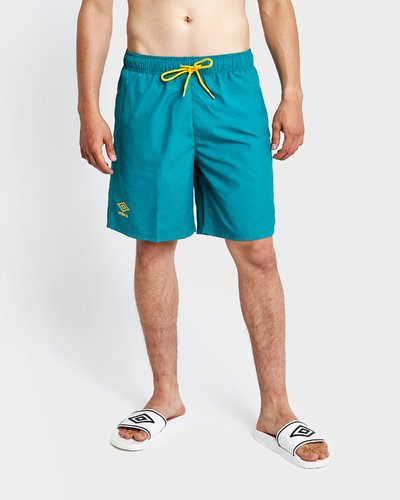 Beach short with contrasting laces - Dark Green