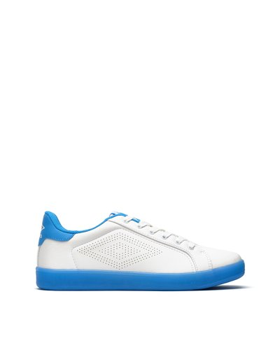 Laser lace-up sneakers