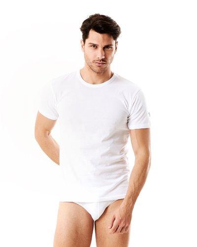 Maglietta intima con scollo tondo - Bianco