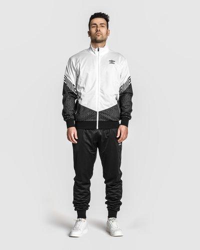 Polyester logo pattern full zip - Grey