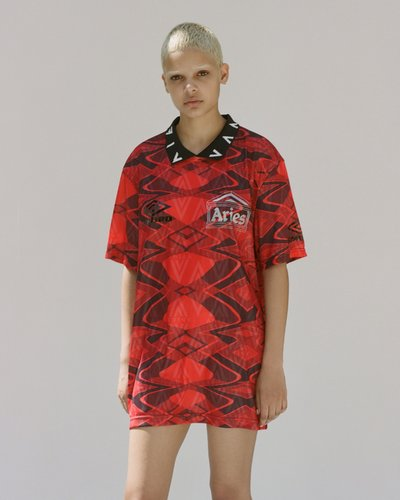 Aries x Umbro - Short sleeve football top with collar