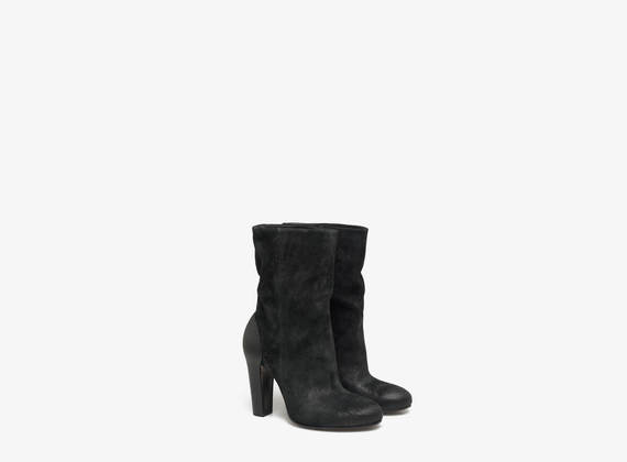 Washed crosta suede ankle boots
