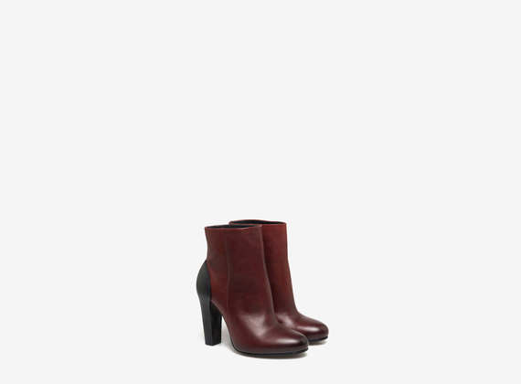 Tube ankle boots