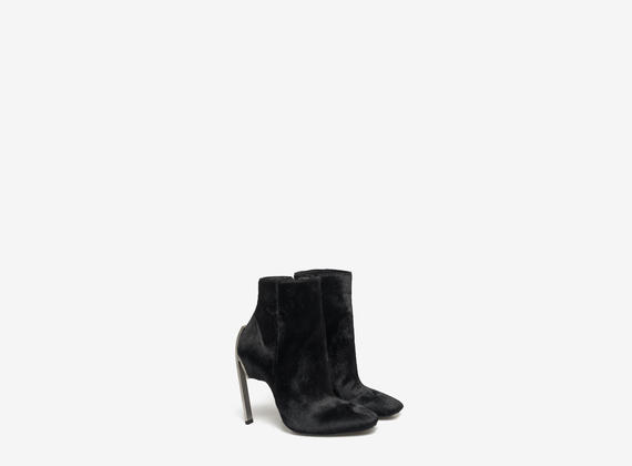 Ponyskin ankle boots