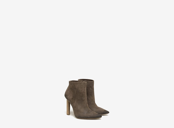 Washed crosta suede ankle boot