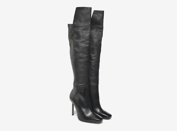 Overknee-Stiefel mit Metallabsatz