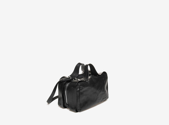 Black rectangular satchel