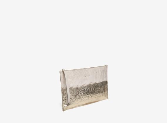 Maxi pochette con spalmatura laminata